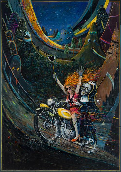 Misti Mountain Hop | 230x160 cm | Öl auf Leinwand | 2014
