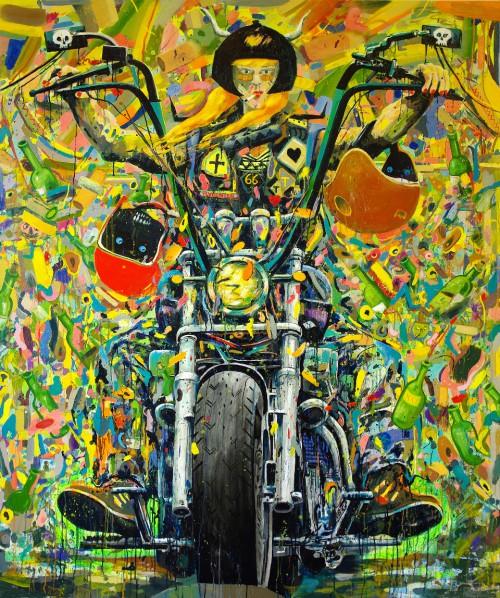Turbonita | 180 x 150 cm | Öl auf Leinwand | 2015
