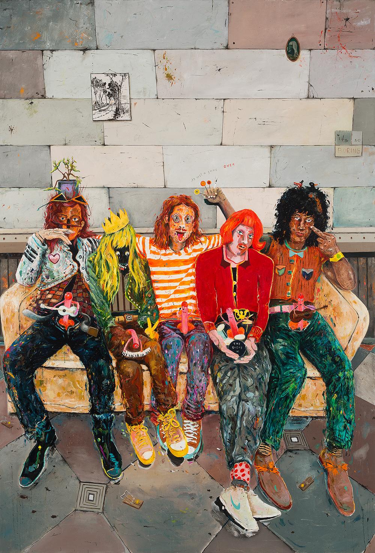 The Dicks | 250 x 170 cm | Öl auf Leinwand | 2016