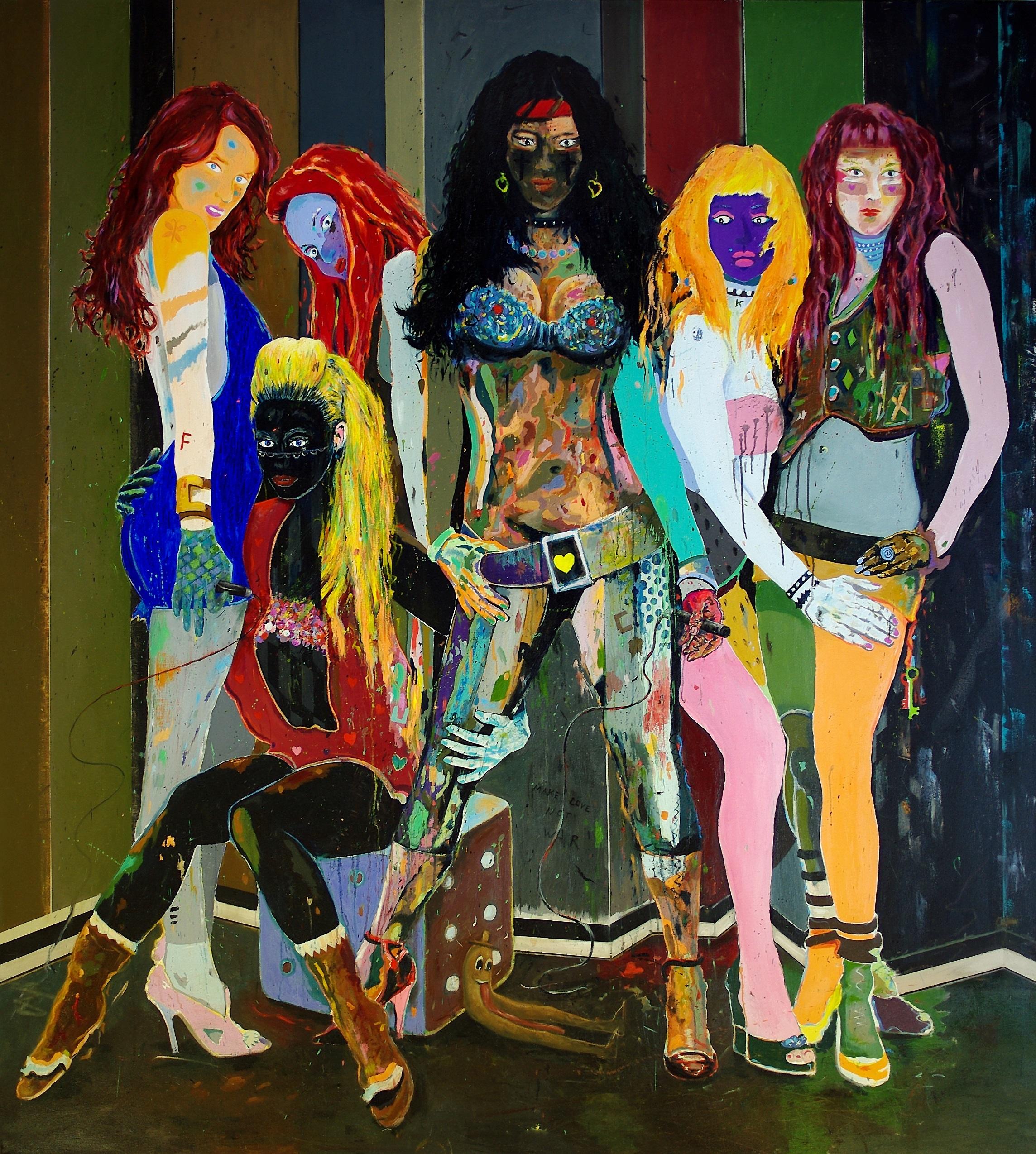 The Chicks of Avinyó | 200 x 180 cm | Öl auf Leinwand | 2016