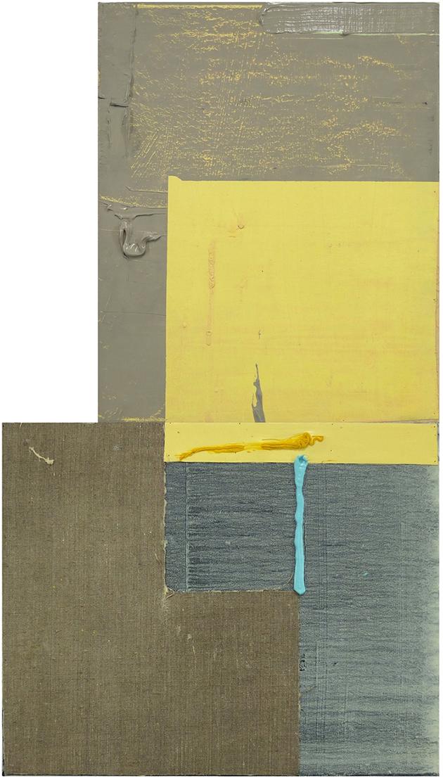web_Lange Nächte mit Vogel, 90 cm x 50 cm, Öl und Collage auf Leinwand, 2018, 2500,-